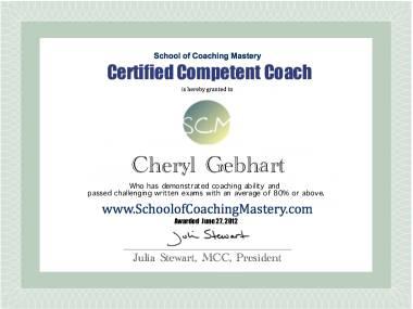 Cheryl Gebhart, CCC