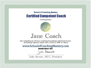 Certified Competent Coach