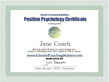 Positive Psychology Certificate