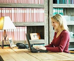 coach at computer