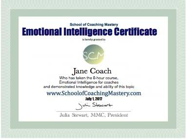 Emotional Intelligence Certificate