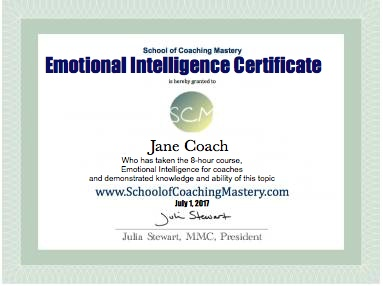 Emotional Intelligence Certificate