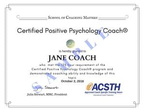 Jane Coach CPPC Certificate