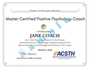 Jane Coach MCPPC Certificate