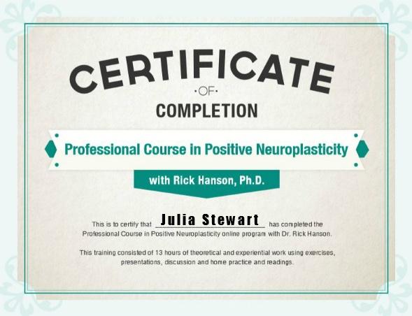 PPNP Certificate Julia Stewart