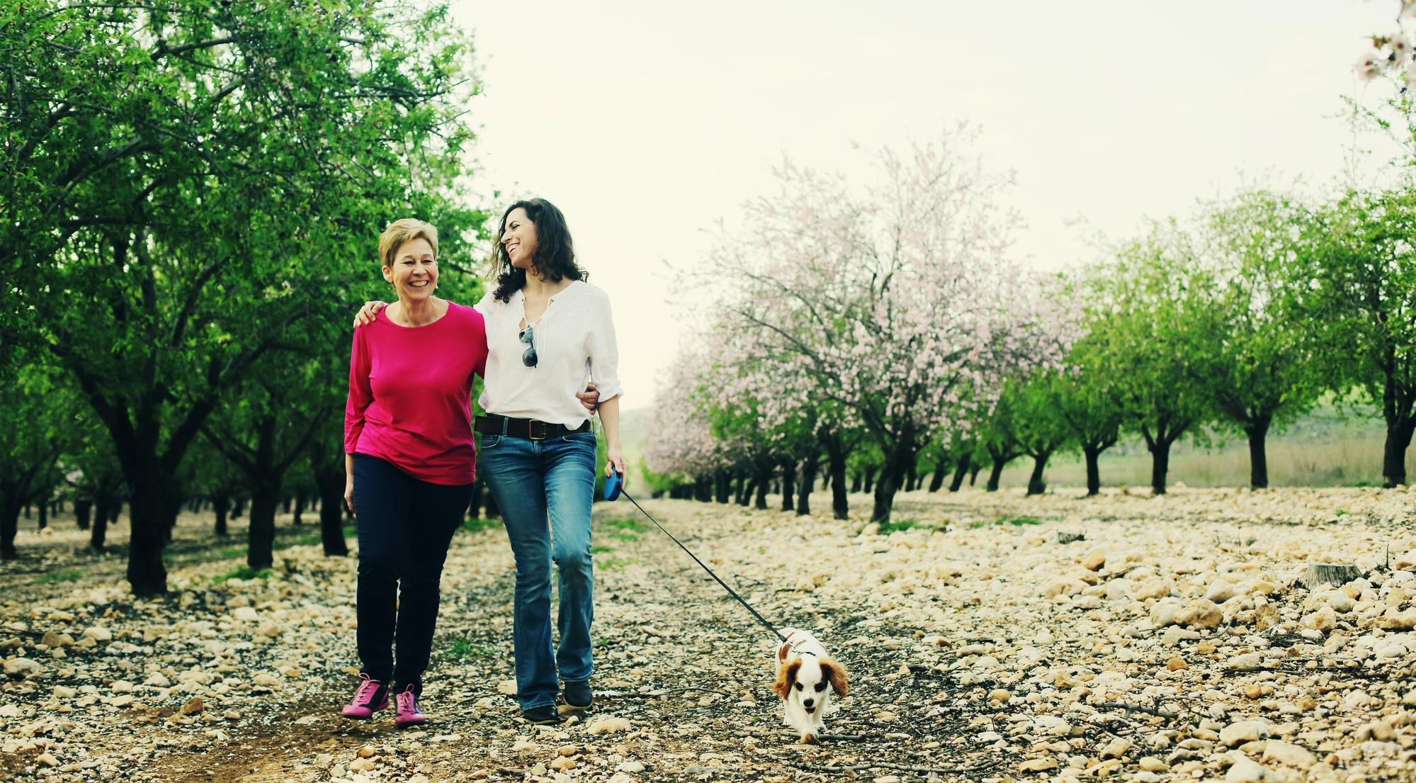 Gratitude Asknowledgment Relationship friendship mother daughter dog walking
